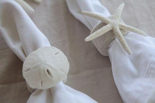 Servilleteros con conchas marinas servilleteros marino - Como hacer conchas finas ...