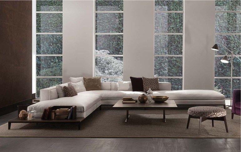 Sectional fabric sofa TAYLOR | Fabric sofa - FRIGERIO POLTRONE E ...