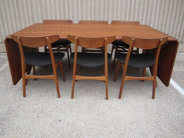 Large Drop Leaf Dining Table By Hans Wegner From A Unique