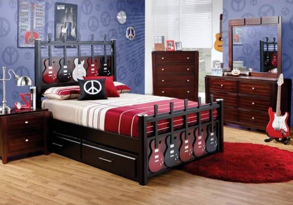 music theme for teenage boy bedroom