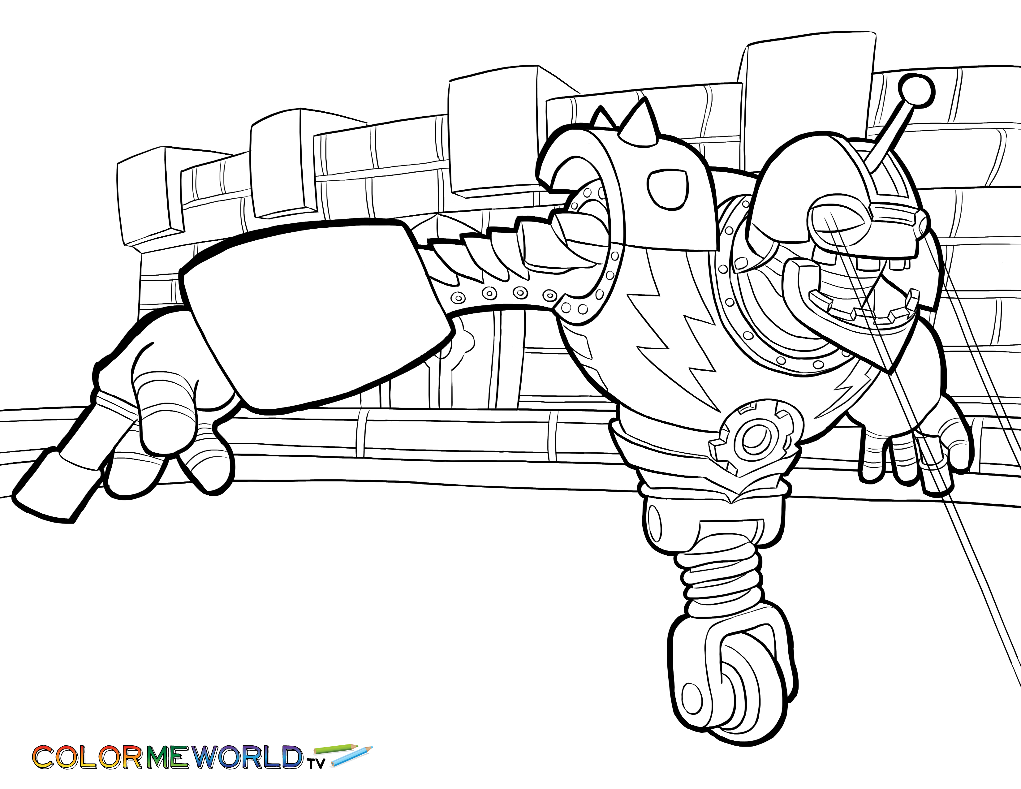 bouncer coloring page - Skylanders Free Coloring Pages