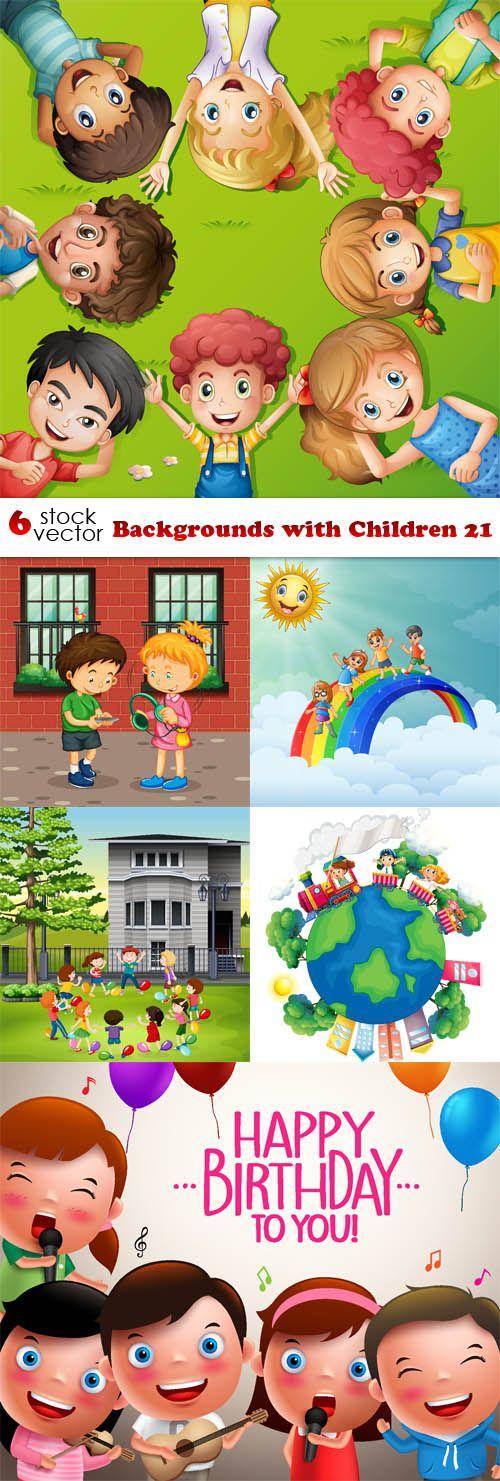 باب الفوتوشوب فيكتور خلفية بها اطفال كارتون Vector Vector Background Photoshop