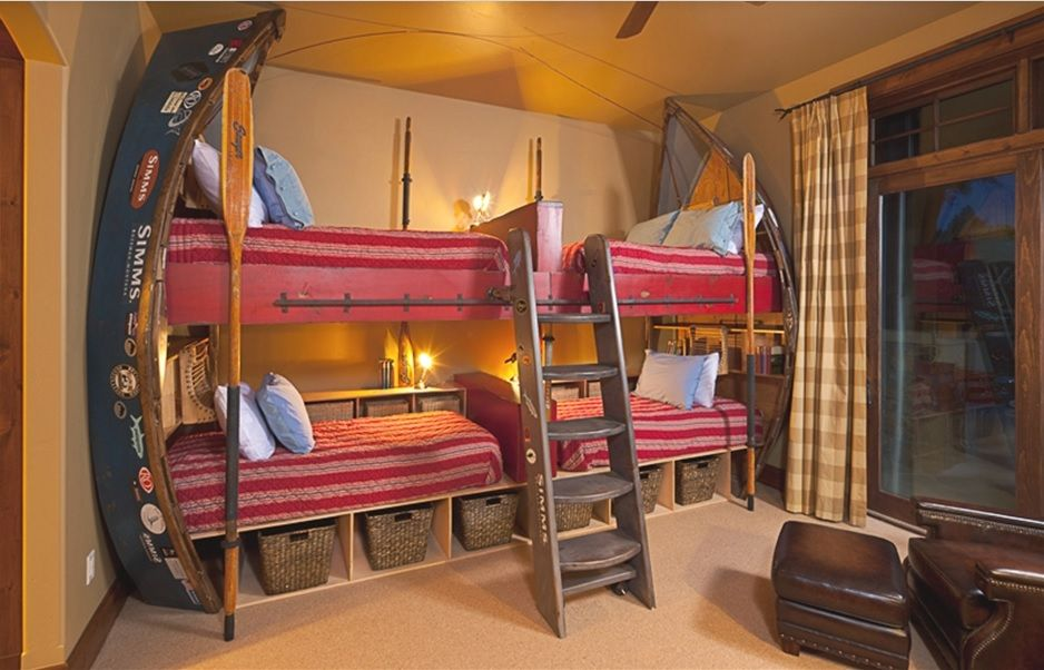 Bunk Beds Perfect For Your Montana Fishing Cabin.