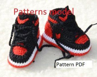 a1a8d9d1e93 CROCHET PATTERN Nike Air Jordan 3 Crochet Baby Booties patrón