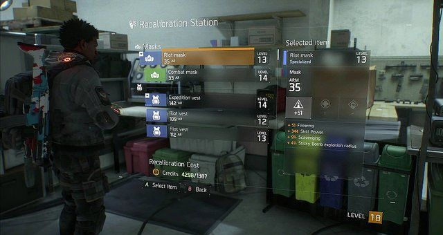 The Division How To Re Roll Gear Stats Recalibration Station