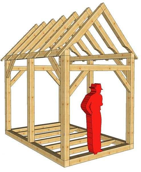 Small storage sheds plans small shed plans a diy kit for Post and beam shed plans