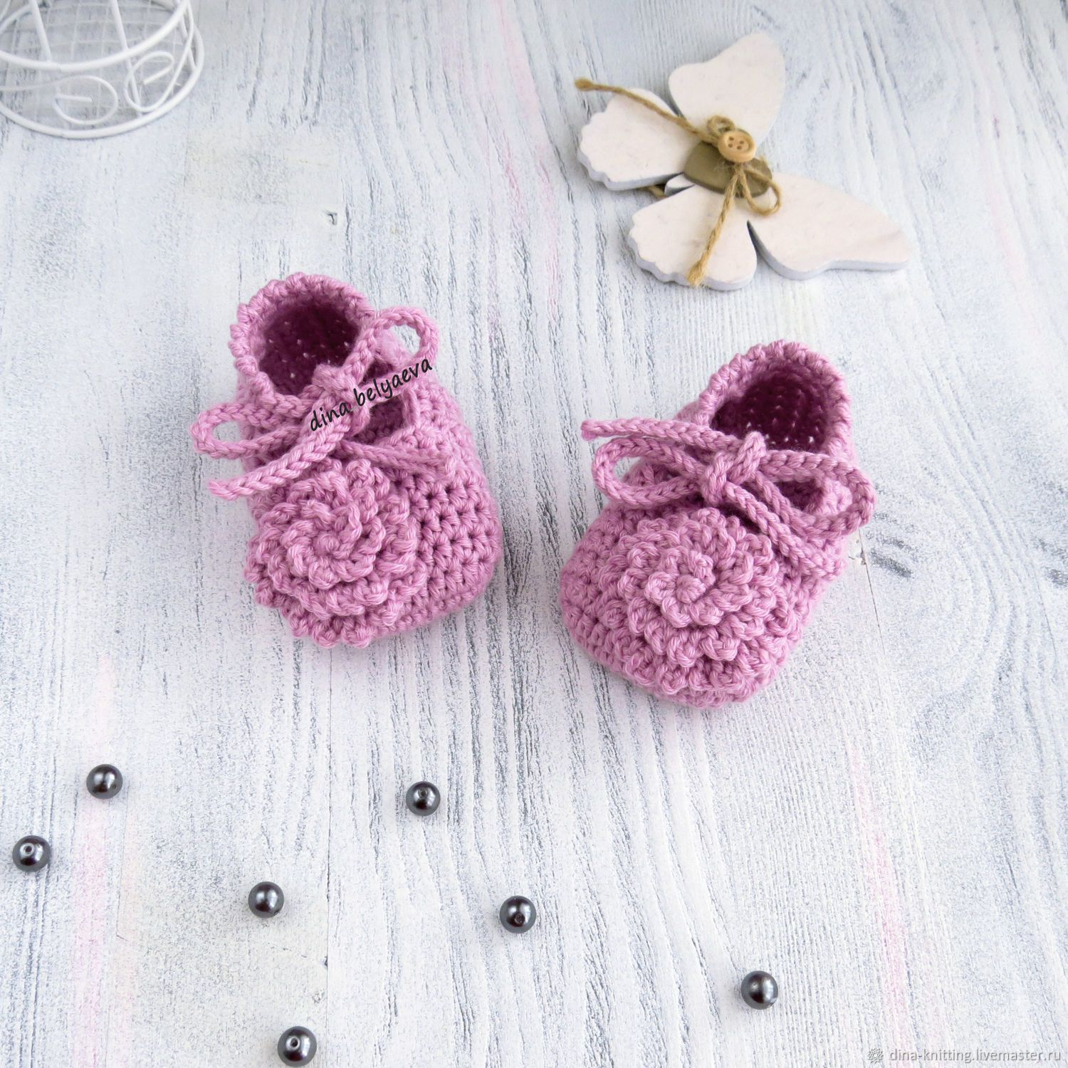 d7b5d46c3d3ff Knitted booties the sandals for girls, pink, 3-6 months – shop online on  Livemaster with shipping - HGQJXCOM | Cheboksary