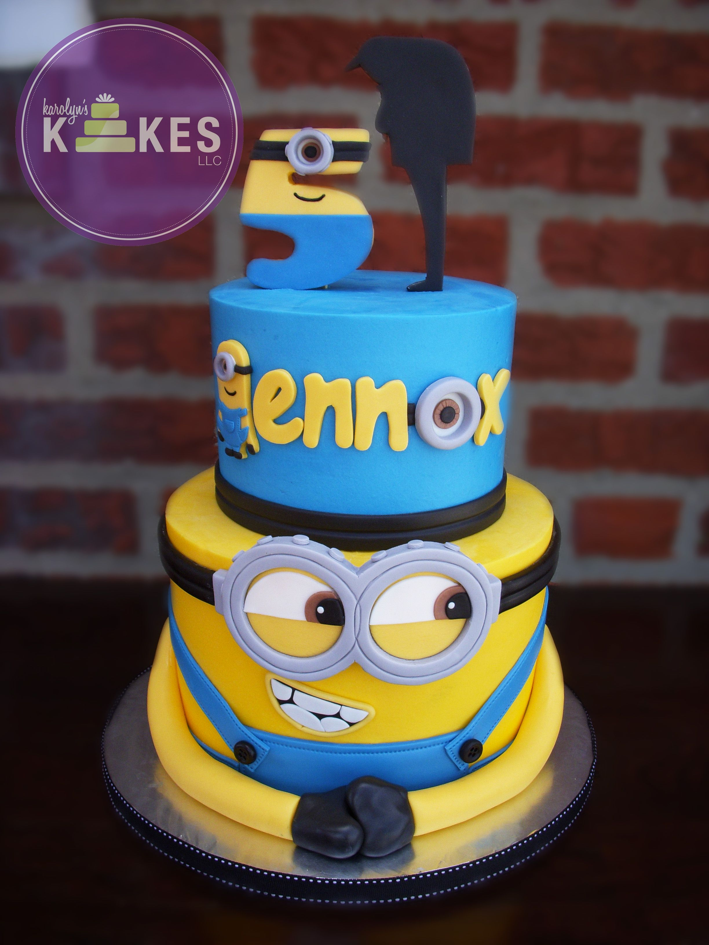 Despicable Me Minion Cake Cakes Are Iced In Buttercream