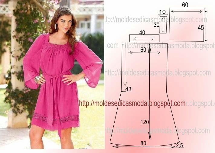 vestido longo facil de fazer - Pesquisa Google | Patterns ...