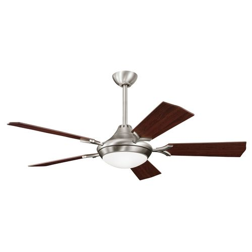 Kichler lighting kichler ceiling fan with light kit in pewter finish 300019ap destination lighting