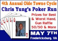 4th Annual Olde Towne Cycle Chris Yung S Poker Run Poker Run Motorcycle Events Charity Events