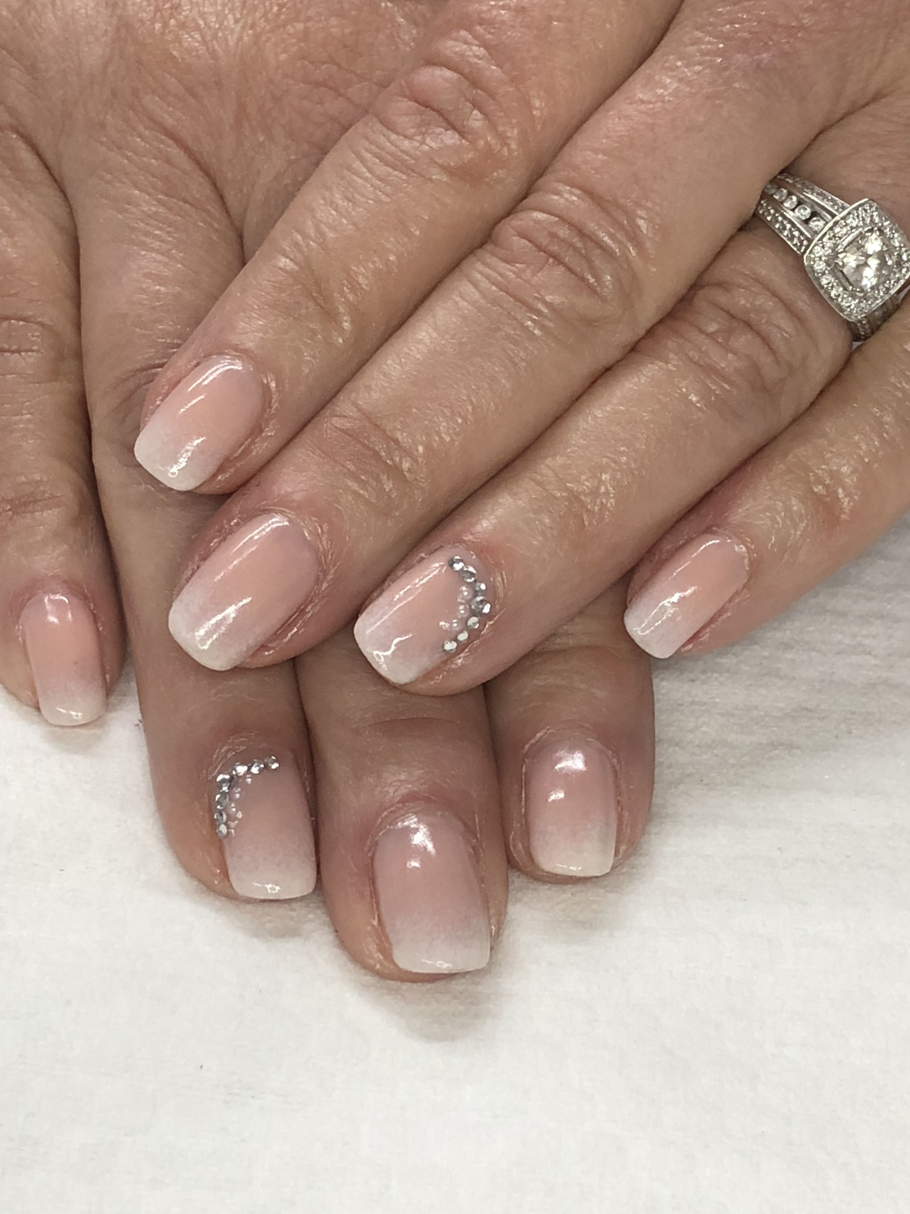 Mother Of The Bride Ombre French Bridal Gel Nails Wedding Gel Nails Bride Nails Wedding Nails