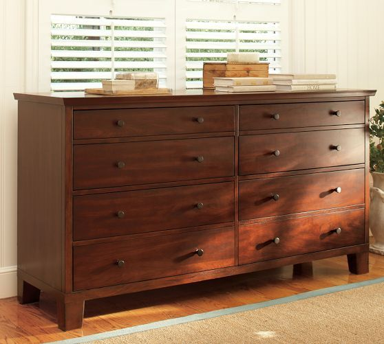 Valencia Extra Wide Dresser Mahogany Stain Decor Pinterest Wide Dresser Dresser And Barn