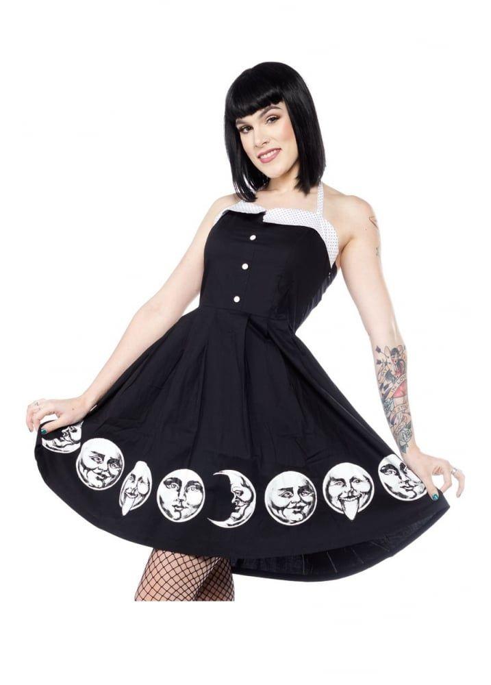 b71edea3fb0 Sourpuss Clothing Moon Faces Spooksville Dress