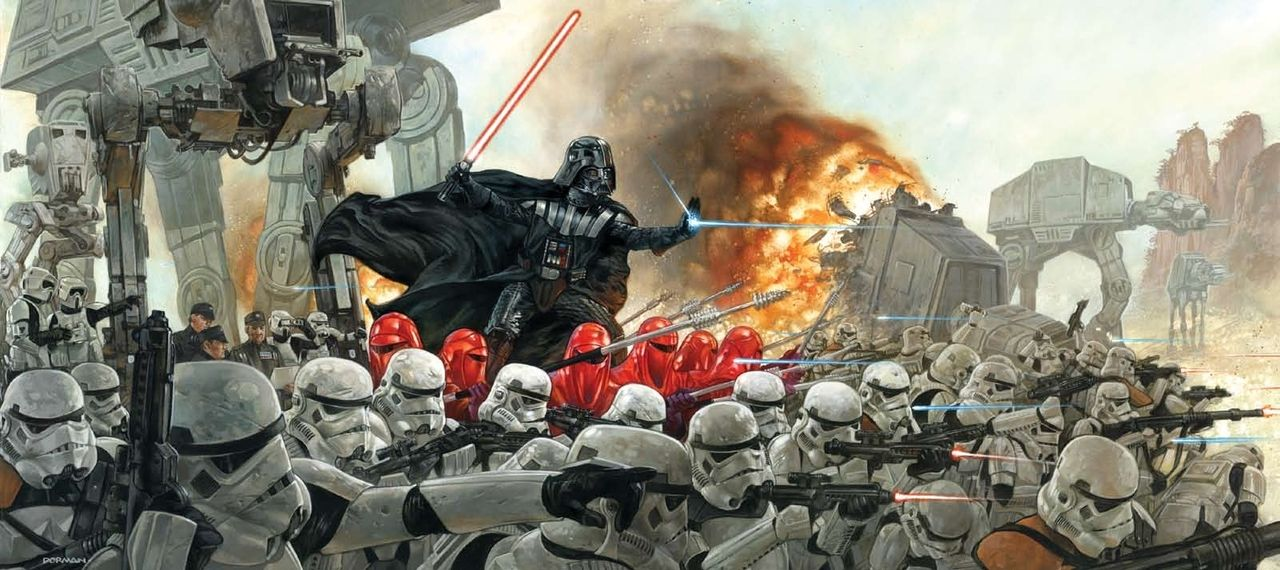 Darth Vader Leads Army of Stormtroopers into Battle -by Dave Dorman via Geek Art - News - GeekTyrant