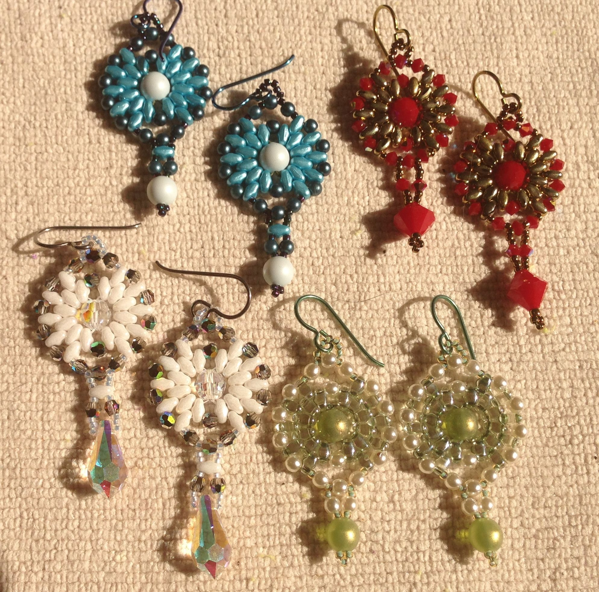 Mini Super Duo Earring Pattern Is Free For Asking On My Web Site It