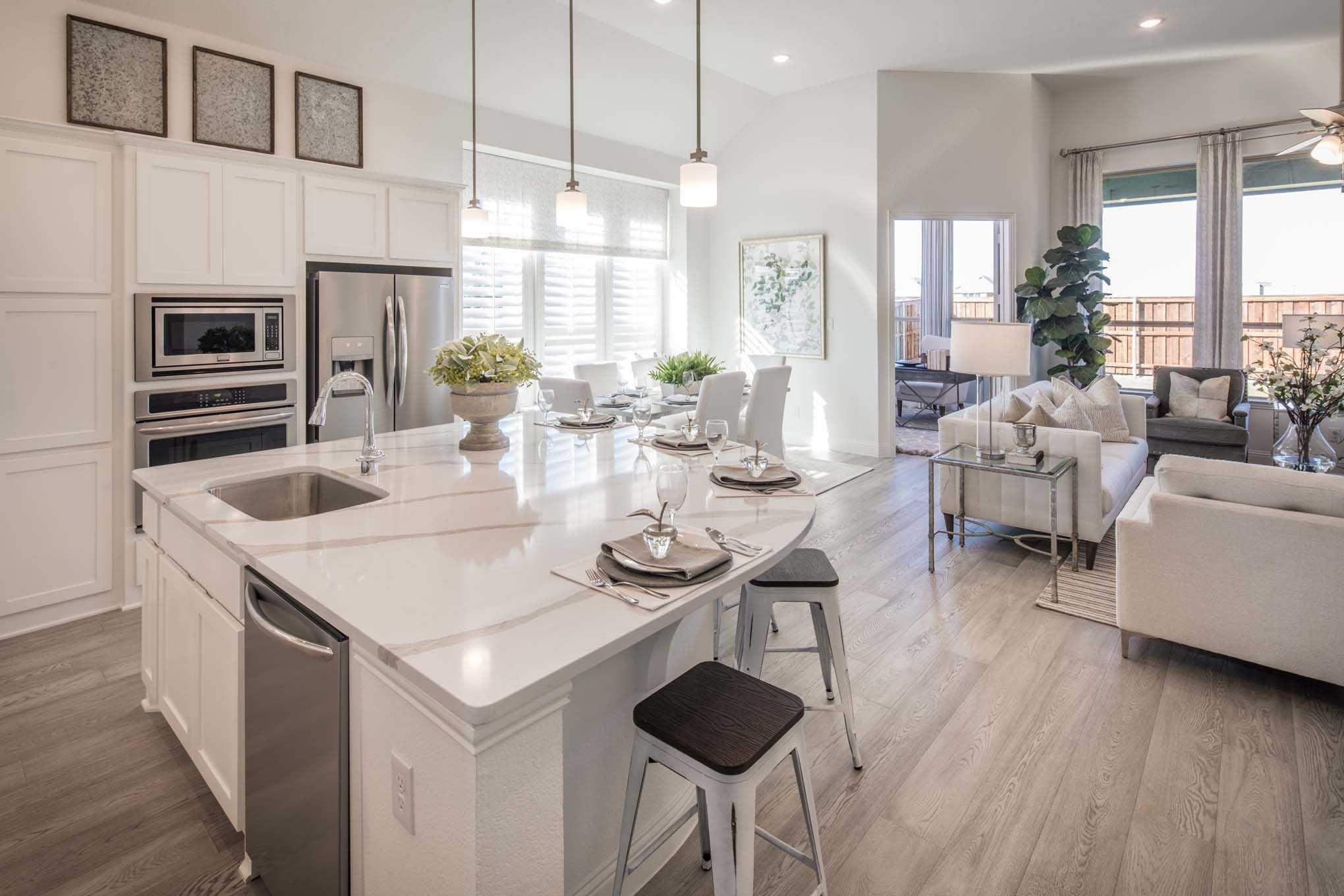 Kitchen In Highland Homes 553 Plan At 705 Lost Woods Way Mckinney