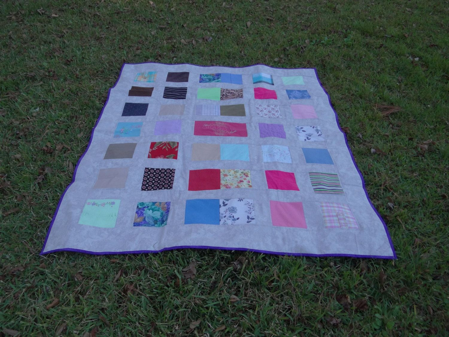 Memory quilt  from your loved ones clothing by sunshineofautumn on Etsy