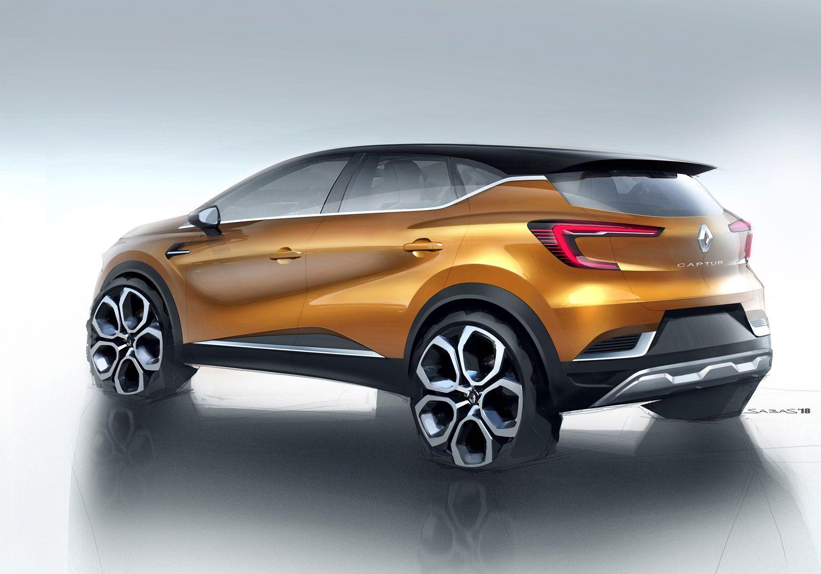 New Renault Captur Design Sketch Render Renault Captur New