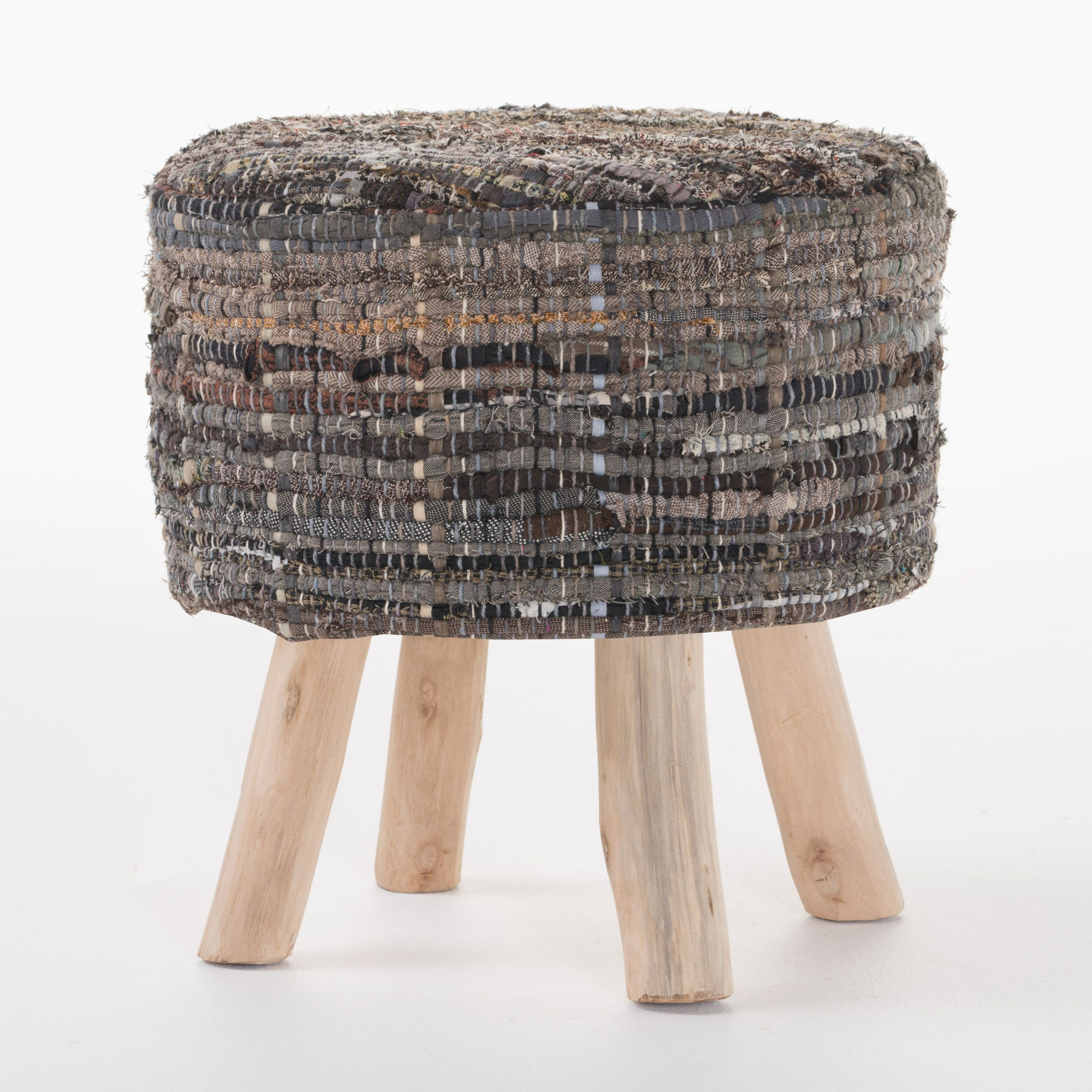 Harrison handwoven fabric round stool products pinterest