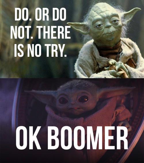Pin By Jennifer Hallmark On Laugh It Up Fuzzball Yoda Meme Baby Memes Star Wars