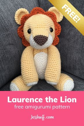 Laurence the Lion Free Amigurumi Pattern | häkeln | Pinterest ...
