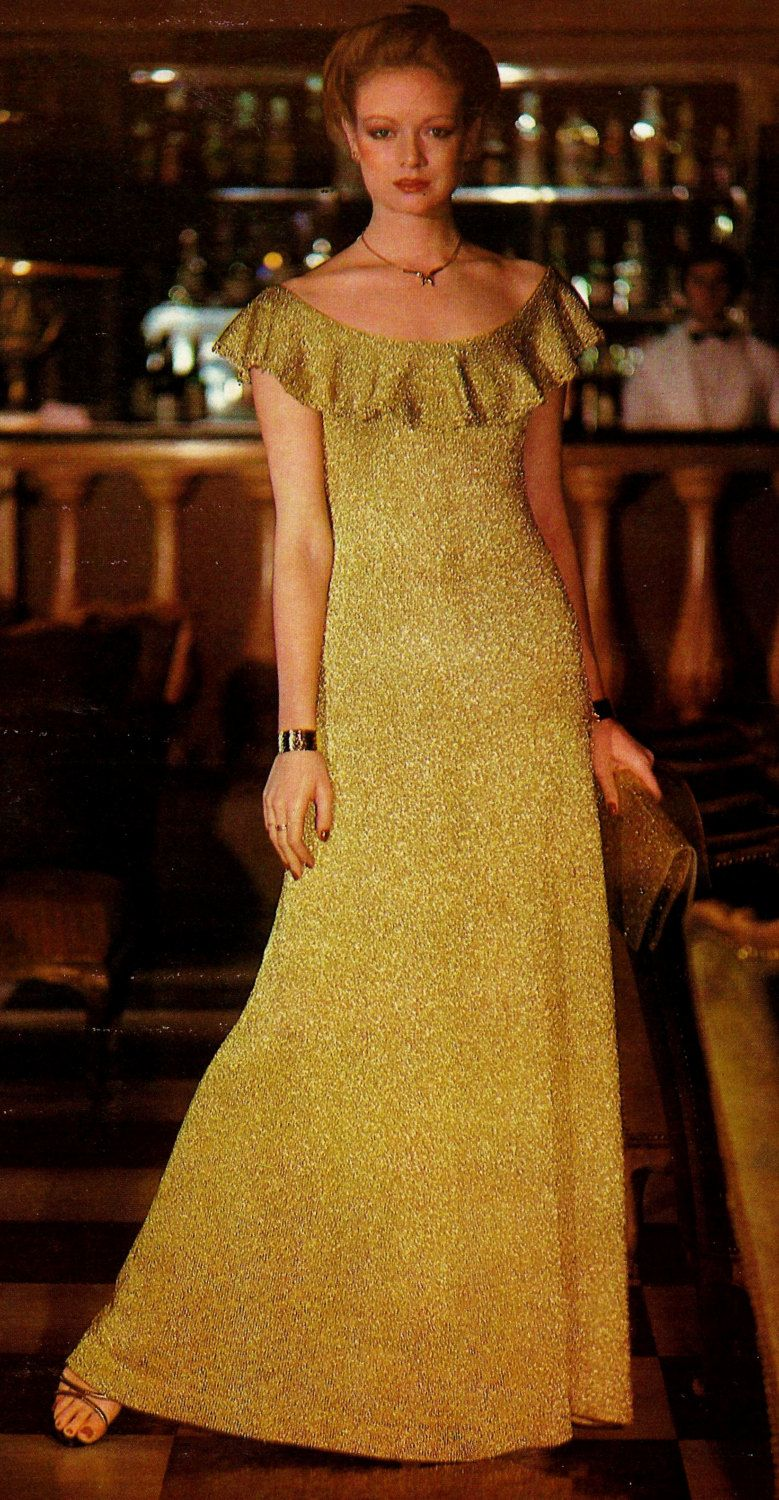 Evening gown vintage knitting pattern instant download knit