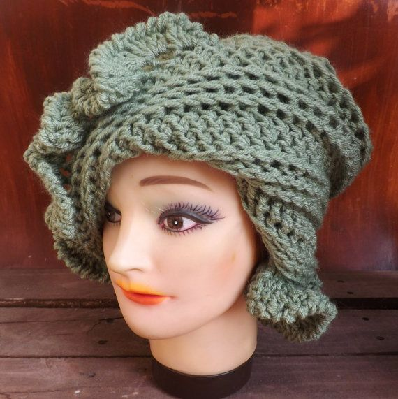 Crochet Patterns for Womens Hat, Crochet Pattern Hat, Cloche Hat ...