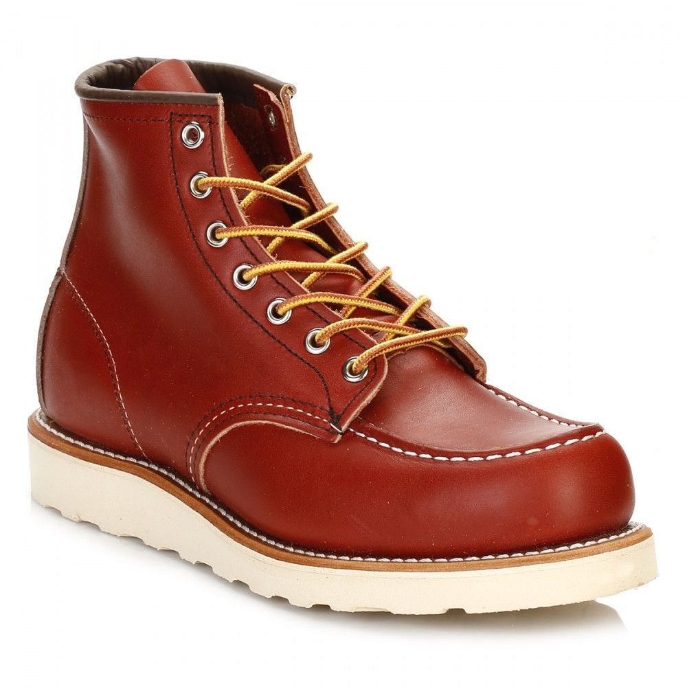 Red Wing Shoes Mens Oro Russet Portage 6-Inch Moc Toe Boots 8131 | TOWER London