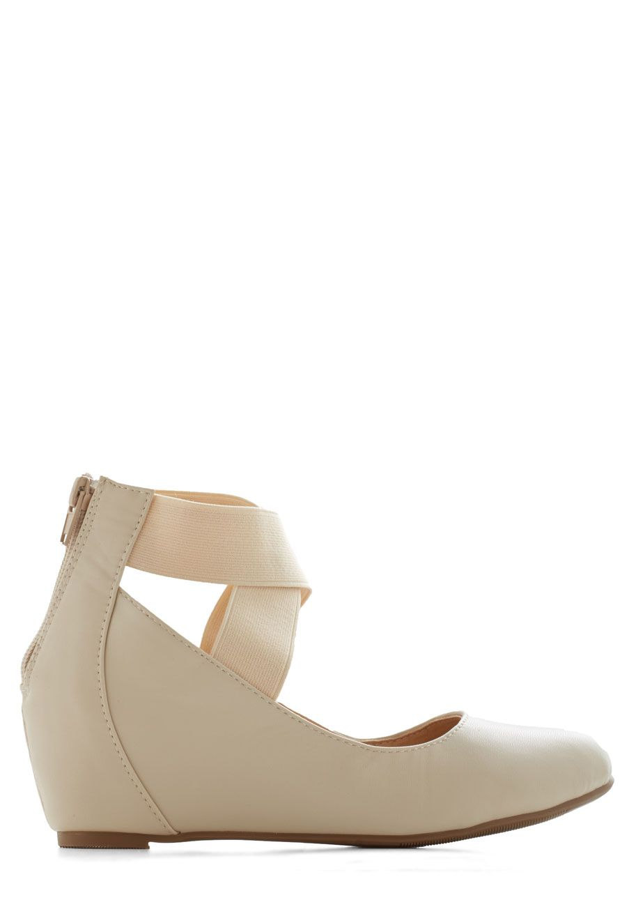 41ff1da0874 Limitless Loveliness Wedge in Ivory. Theres no end to the elegance that  awaits in these ivory shoes!  cream  modcloth