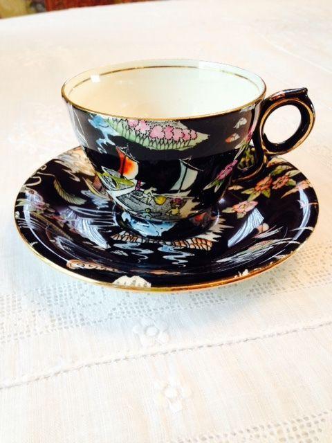 """Royal Winton Grimwades Chintz """"Oriental Fantasy"""" Cup & Saucer, Rare #RoyalWintonGrimwades"""