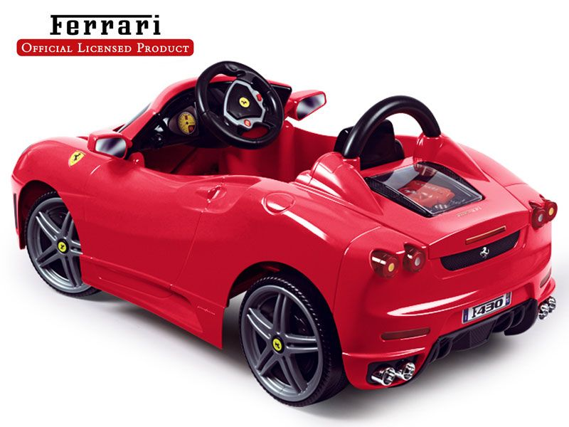 Ferrari F430 Power Wheel 6v Ride On Toy Black Friday Toy Deals Upscale Baby Gifts Ferrari F430