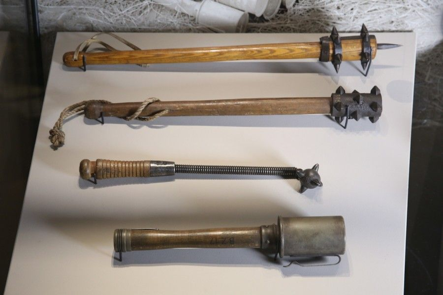 What weapons were used in trench warfare?