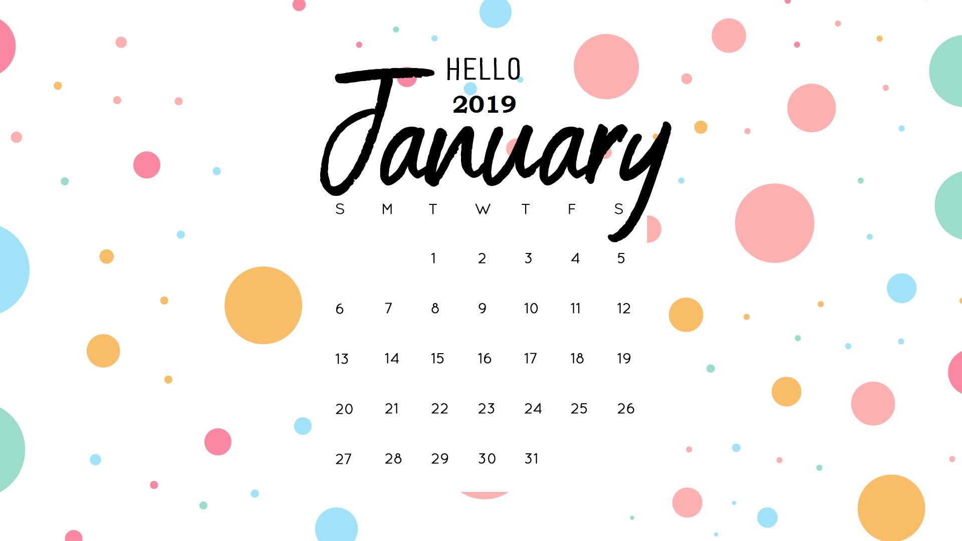 Cute January 2019 Calendar Background Wallpaper calendar background january 2019   Falco.ifreezer.co