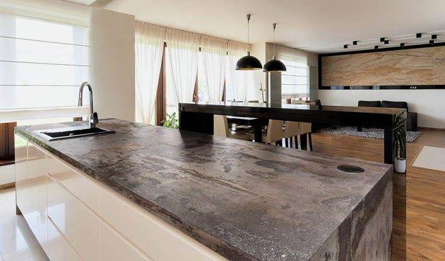 Oxidized steel Dekton Trilium countertop #housetrends Hard - stein arbeitsplatte küche