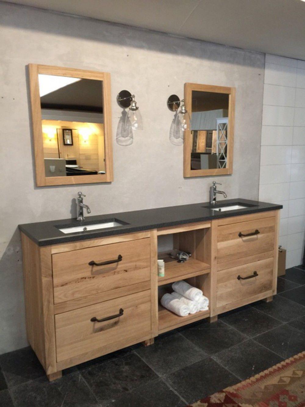 Waschtisch Eiche Massiv Doppelwaschtisch Im Landhausstil Breite 163 Cm Bad Waschtische In 2020 Waschtisch Landhaus Badezimmer Rustikal Waschtisch Holz Landhaus