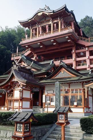 'Shinto Shrine of Kusado Jinja, Fukuyama, Chugoku, Japan' Giclee Print - | Art.com