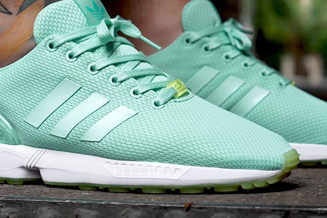 adidas originals zx flux green