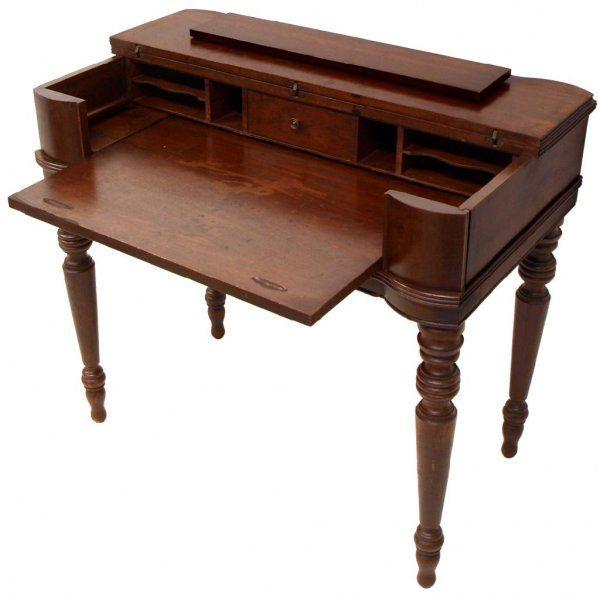 Open Mahogany Spinet Desk