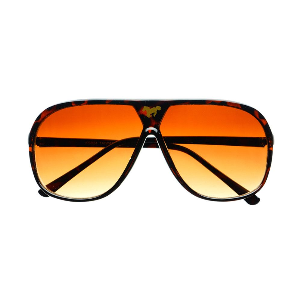 6e617816af  retro  vintage  style  aviator  sunglasses  shades  horse  logo  womens   mens  tortoise. RETRO STYLE FLAT TOP ...