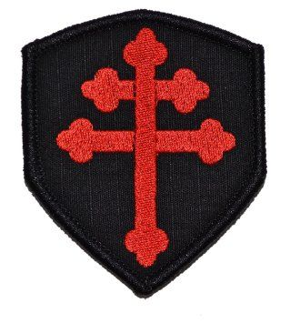 A-TACS AU US Navy Seals DEVGRU Crusaders Templar Cross Embroidered Fastener Patch