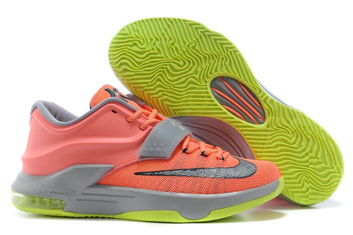 low cost 30b52 8391b Youth Big Boys KD 7 35k Degrees Bright Mango Space Blue Light Magnet Grey  653996 840