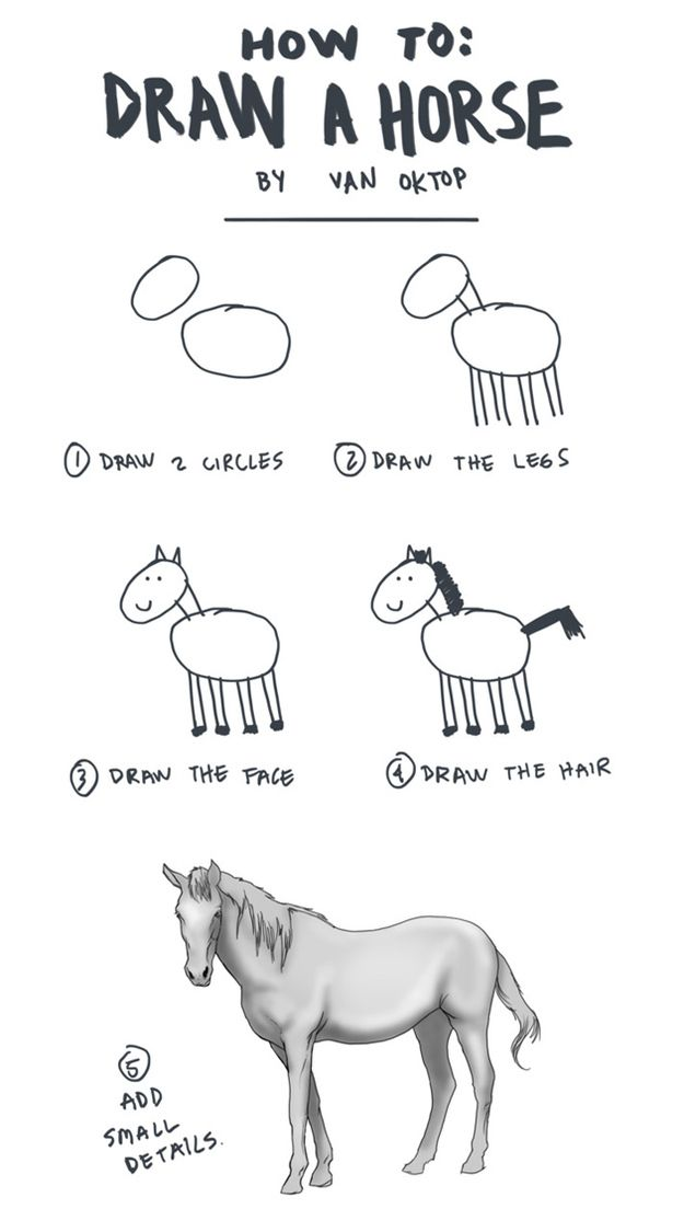 How To Draw A Horse Just For Laughs Draw Humor