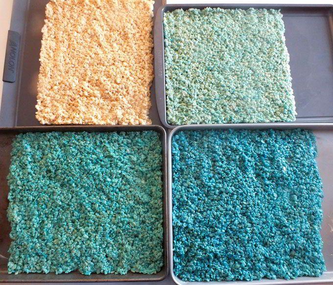Disney Frozen Ombre Rice Krispie Treats | Ombre colour, Rice krispie ...