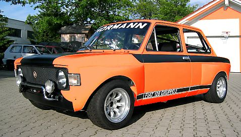 Fiat 128 Abarth Rallye Autos Rennen