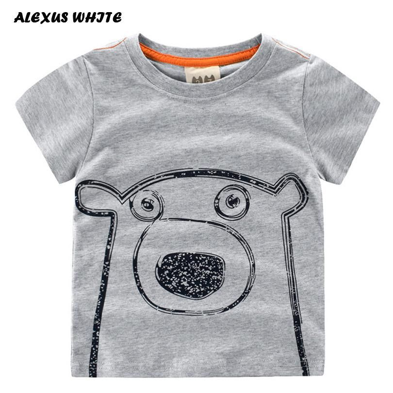 White Baby Boy Girl Clothes T-shirt Child Toddler Printing Shirts Cotton Tops