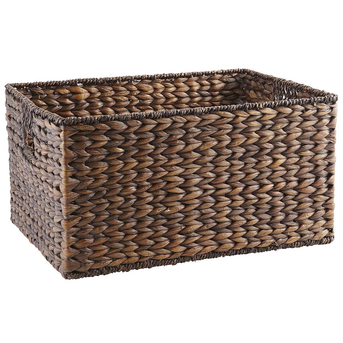 Carson Espresso Wicker Large Shelf Storage Baskets Shelf Baskets Storage Wicker Baskets Storage Storage Baskets
