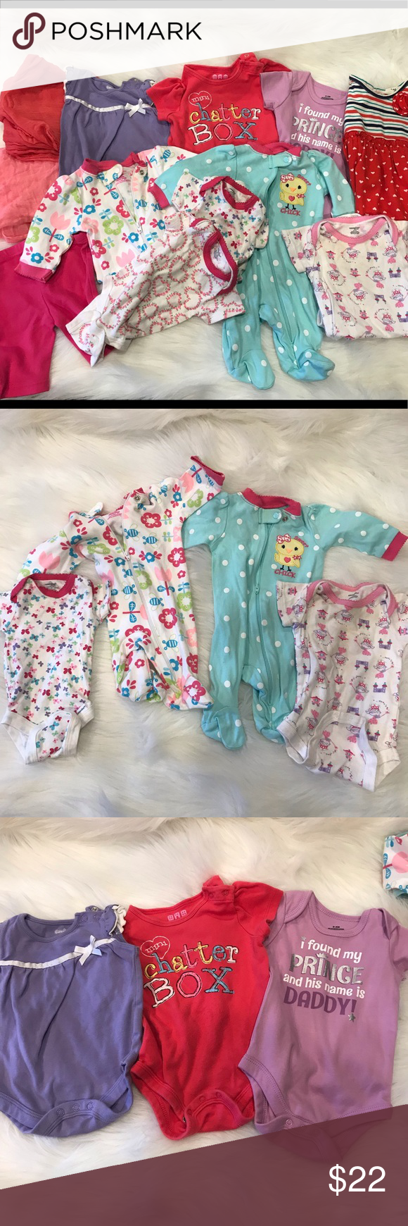 4869a3b98 Bundle of baby girls clothes ! 2 newborn wraps for pictures Onesies ...