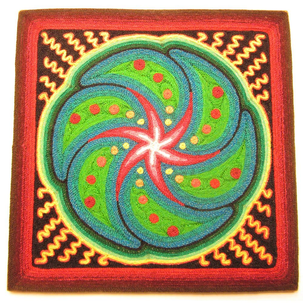 Sacred peyote symbol. | Huichol Indian Yarn Paintings | Pinterest ...