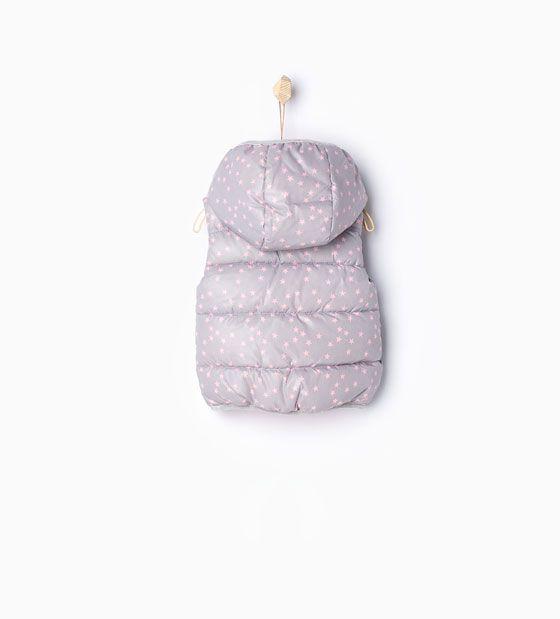 Image 2 of Hooded waistcoat with pockets from Zara